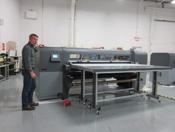 Grand-format UV printer lab at NOVO Engineering Minneapolis