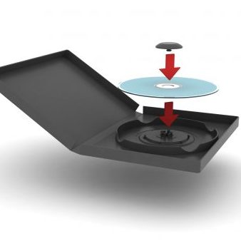 RFID-activated anti-theft system for DVD media