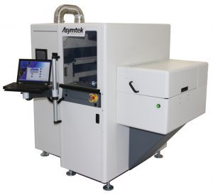 Silicon wafer coating machine side view